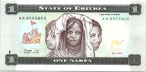 Erythrée 1 Nakfa Trois fillettes - Ecoliers - 1997