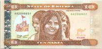 Erythrée 10 Nakfa Trois jeunes femmes - Viaduc - 2012