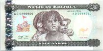 Erythrée 5 Nakfa Un enfant et deux hommes - Arbre - 1997