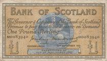 Escocia 1 Pound - 13-09-1956 -Seated woman, Ship, Thistle - Serial M