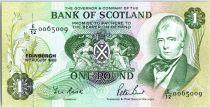 Escocia 1 Pound - Sir W. Scott - Arms - Boat - 1988