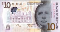 Escocia 10 Pounds Sir Walter Scott - Viaduc - Polymer - 2016