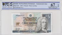 Escocia 5 Pounds Lord Ilay - Jack Nicklaus - PCGS 67 OPQ