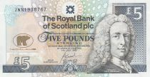Escocia 5 Pounds Lord Ilay - Jack Nicklaus Golfer - 2005