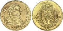 Espagne 1/2 Escudo Charles III - Armoiries 1788  M - Or
