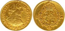 Espagne 1/2 Escudo Charles III - Armoiries 1788 M Madrid - Or