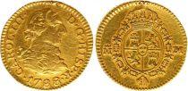 Espagne 1/2 Escudo Charles III - Armoiries 1788 M Madrid - Or