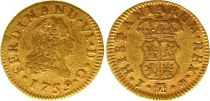 Espagne 1/2 Escudo Ferdinand VI - Armoiries 1759  J M Madrid - Or