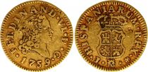 Espagne 1/2 Escudo Ferdinand VI - Armoiries 1759  J M Madrid - Or