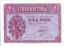 Espagne 1 Peseta - Armoirie - Burgos - 1937