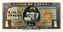 Espagne 1 Peseta Bateau - Santa Maria - 1940