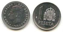 Espagne 1 Peseta Juan Carlos I