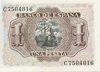 Espagne 1 Peseta Marqués de Santa Cruz