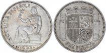 Espagne 1 Peseta République - Armoirie -1933