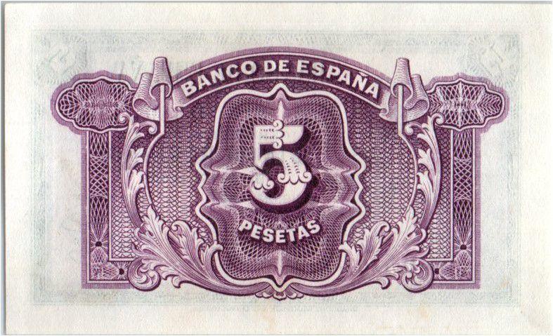 Espagne 10 Pesetas  - Portrait de femme - 1935