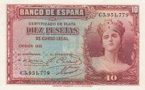 Espagne 10 Pesetas 1935 - Portrait de femme