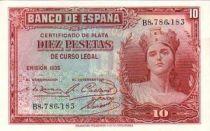 Espagne 10 Pesetas Femme - 1935