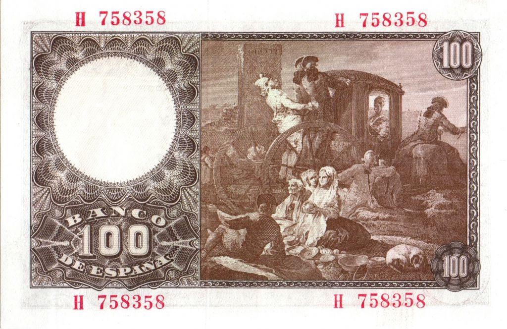 Espagne 100 Pesetas  - Francisco BAYEU - 1948