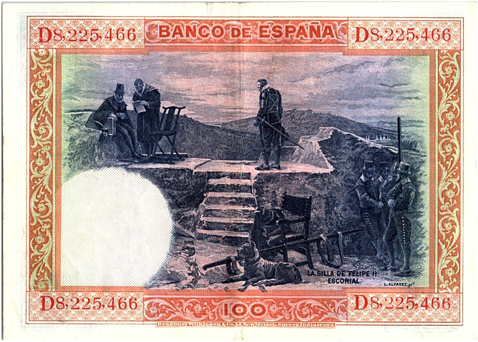 Espagne 100 Pesetas - Felipe II - 1925 - TTB + - Série D - P.69