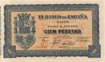 Espagne 100 Pesetas 1937 Gijón