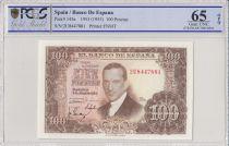 Espagne 100 Pesetas 1953 - J.R. de Torres - PCGS 65 OPQ