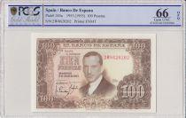 Espagne 100 Pesetas 1953 - J.R. de Torres - PCGS 66 OPQ