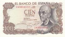 Espagne 100 Pesetas 1970 - Manuel de Falla - Série 5W