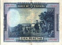 Espagne 100 Pesetas M. De Cervantes - 1928 - Sans série - TTB - P.76