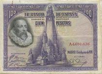 Espagne 100 Pesetas M. De Cervantes