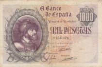 Espagne 1000 Pesetas - Carlos I - Armoiries - 1940