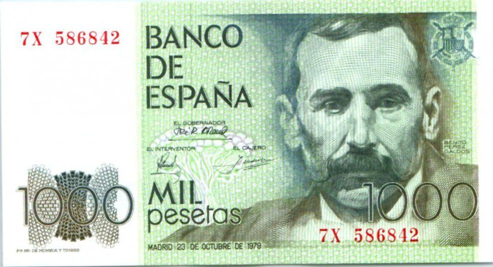 Espagne 1000 Pesetas Benito Pérez Galdos