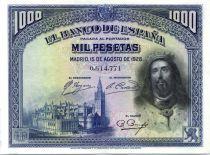 Espagne 1000 Pesetas Saint Fernando - 1928