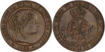 Espagne 2,5 Centimos - Isabelle II - 1868 OM