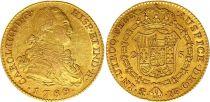 Espagne 2 Escudos Charles IV - Armoiries 1789 M MF - Madrid Or