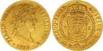 Espagne 2 Escudos Ferdinand VII - Armoiries 1833 AJ Madrid -Or