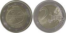Espagne 2 Euro 10 ans de l\'UEM  - 2009