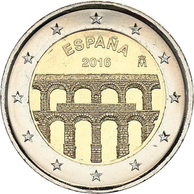 Espagne 2 Euros Acqueduc de Ségovie - 2016