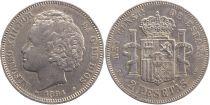 Espagne 2 Pesetas Alfonso XIII - Armoiries -1894 (94)