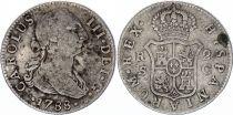 Espagne 2 Reales Charles III - Armoiries - 1788