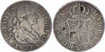 Espagne 2 Reales Charles IV - Armoiries - 1806 CN