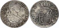 Espagne 2 Reales Charles IV - Armoiries - 1806