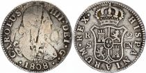 Espagne 2 Reales Charles IV - Armoiries - 1808