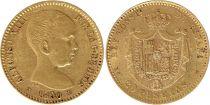 Espagne 20 Pesetas Alfonso XIII - Armoiries - 1890 (90) - Or
