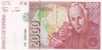 Espagne 2000 Pesetas  - José Celestino Mutis - 1992 (1996)