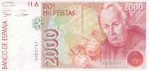 Espagne 2000 Pesetas  - José Celestino Mutis - 1992 sans série