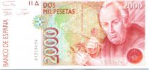 Espagne 2000 Pesetas J. Celestino Mutis