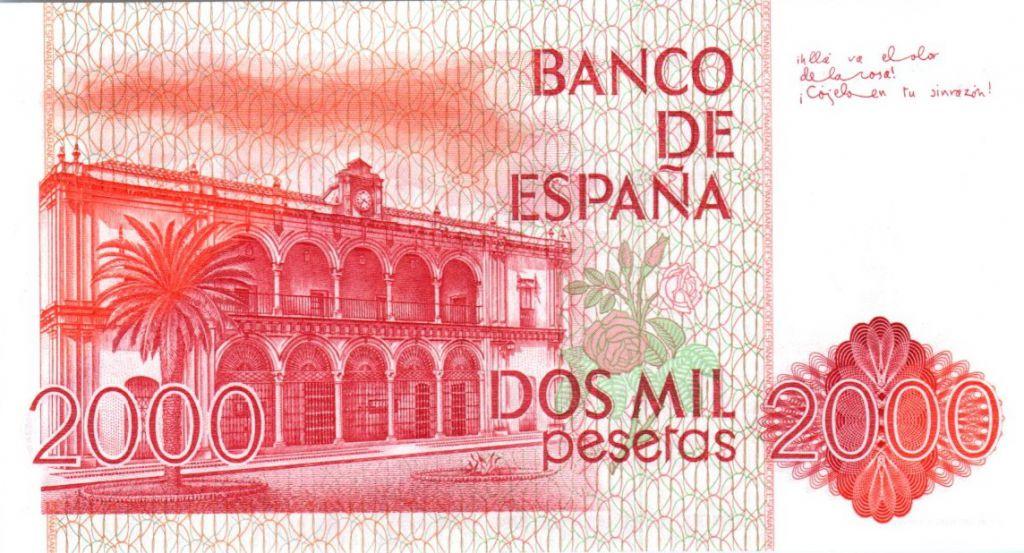 Espagne 2000 Pesetas Juan Ramon Jimenez - 1980