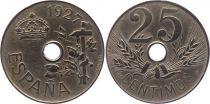 Espagne 25 centimos - Alfonso XIII  -1927