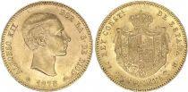Espagne 25 Pesetas Alfonse XII - Armoiries - 1878