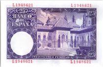 Espagne 25 Pesetas Isaac Albeniz - 1954